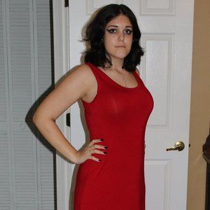 Gorgeous CK floor length red maxi dress